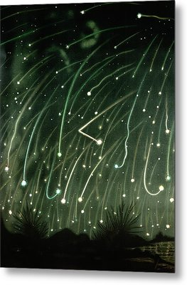 November Meteors Metal Print by Miriam And Ira D. Wallach Division Of Art, Prints And Photographs/new York Public Library