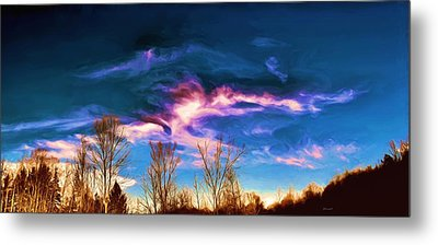 November Skies Metal Print by Dennis Lundell