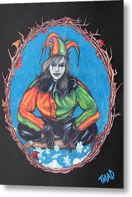 Metal Print featuring the drawing November Snow by Michael  TMAD Finney