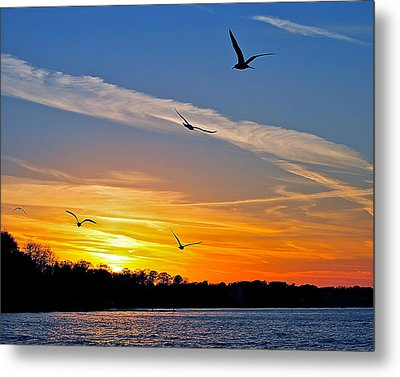 November Sunset Ia Metal Print by Frozen in Time Fine Art Photography