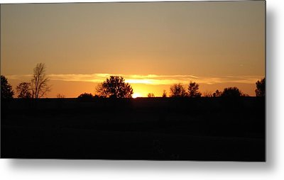 November Sunset  Metal Print by J L Zarek