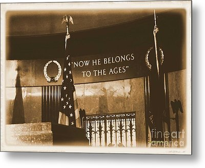 Metal Print featuring the photograph Now He Belongs To The Ages by Luther Fine Art