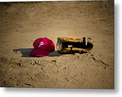 Now Pitching For The Phillies Metal Print by Bill Cannon