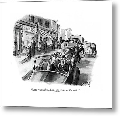 Now Remember Metal Print by William Steig