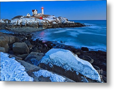 Nubble Blizzard Metal Print by Katherine Gendreau