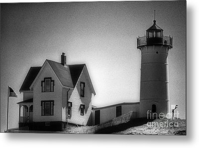 Nubble In Maine Metal Print by Skip Willits