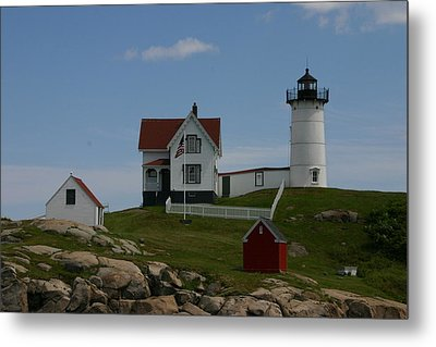 Metal Print featuring the photograph Nubble Light House York Maine by Denyse Duhaime