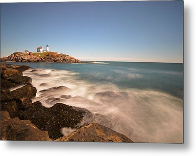 Nubble Light In York Me Cape Neddick Metal Print by Toby McGuire