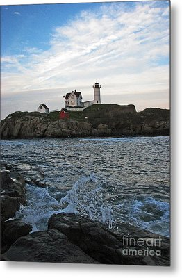 Nubble Light Portrait Metal Print