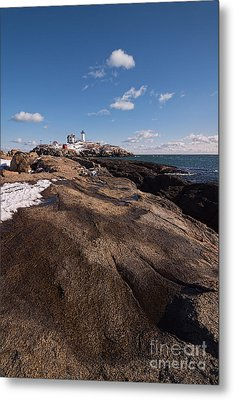 Nubble Light Portrait Metal Print by Sharon Seaward