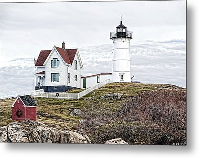 Metal Print featuring the photograph Nubble Light by Richard Bean