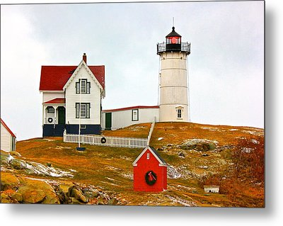 Metal Print featuring the photograph Nubble Lighthouse by Amazing Jules