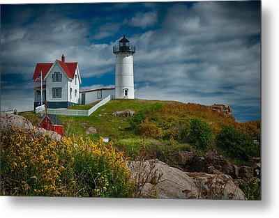 Nubble Lighthouse Metal Print by Fred LeBlanc
