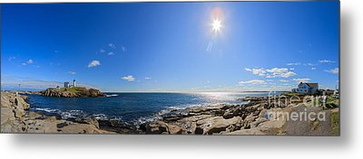 Nubble Lighthouse Metal Print by Henk Meijer Photography