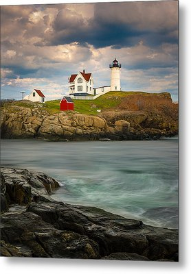 Metal Print featuring the photograph Nubble Lighthouse by Steve Zimic
