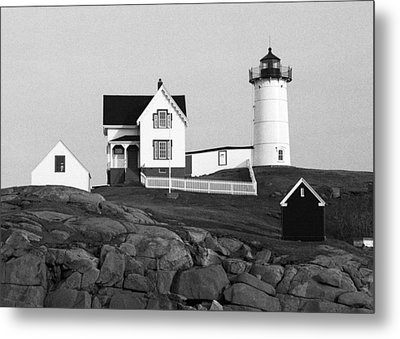 Nubble Lighthouse Metal Print by Will Gunadi