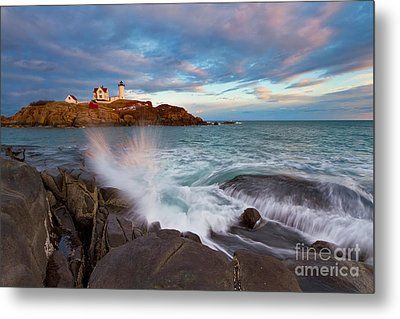 Nubble Splash Metal Print by Katherine Gendreau