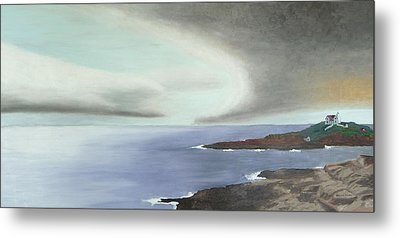 Nubble Storm Metal Print by Dillard Adams