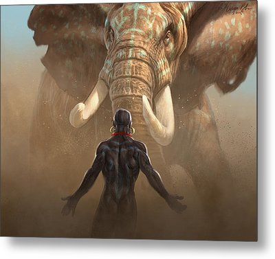 Metal Print featuring the digital art Nubian Warriors by Aaron Blaise