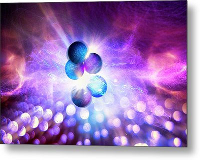 Nuclear Fusion Metal Print by Richard Kail