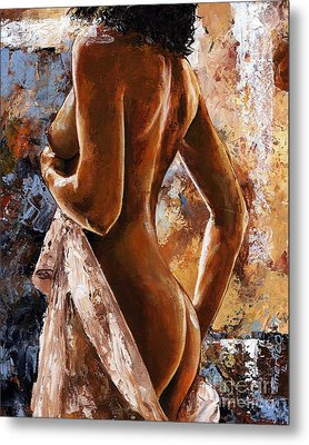 Nude 07 Metal Print by Emerico Imre Toth