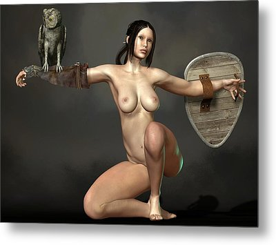 Nude Athena Metal Print