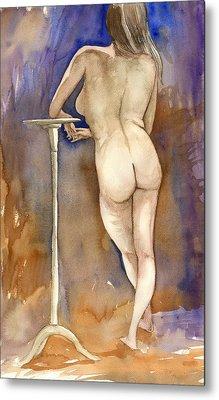 Nude Back Metal Print