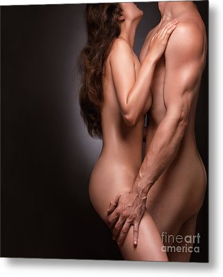 Nude Couple Naked Bodies Metal Print by Oleksiy Maksymenko