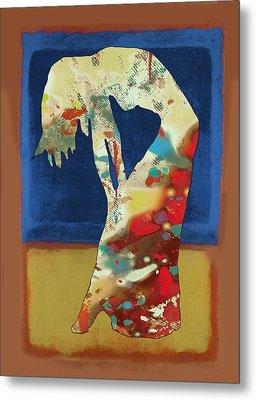 Nude Dancing Pop Stylised Art Poster Metal Print