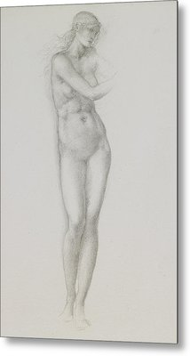 Nude Female Figure Study For Venus From The Pygmalion Series Metal Print