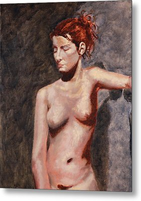 Nude French Woman Metal Print