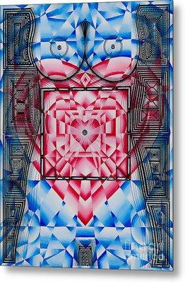 Nude Heart And Sky Metal Print by Joseph J Stevens