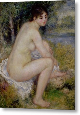Nude In A Landscape Metal Print