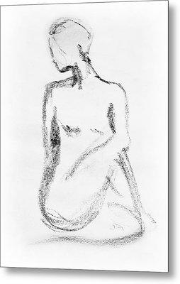 Nude Model Gesture Vi Metal Print