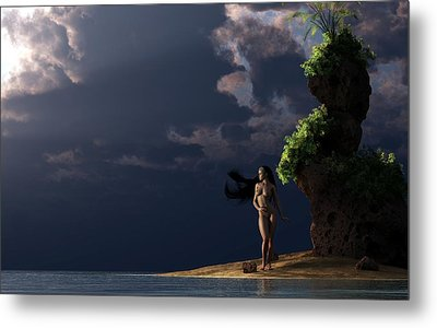Nude On A Beach Metal Print