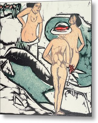 Nude Women Metal Print by Ernst Ludwig Kirchner