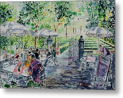 Metal Print featuring the painting Nuernberg Gardens Of Hesperides by Alfred Motzer