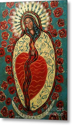 Nuestra Senora De Guadalupe Metal Print by Maya Telford