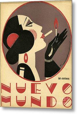 Nuevo Mundo 1923 1920s Spain Cc Metal Print