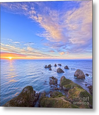 Nugget Point At Sunrise Otago New Zealand Metal Print by Colin and Linda McKie