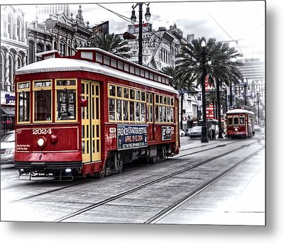 Metal Print featuring the photograph Number 2024 Trolley by Tammy Wetzel