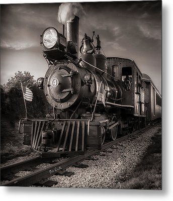 Number 4 Narrow Gauge Railroad Metal Print