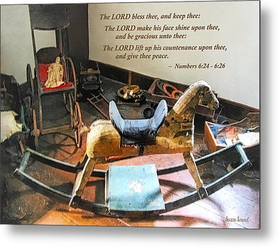 Numbers 6 24-26 The Lord Bless Thee And Keep Thee Metal Print by Susan Savad