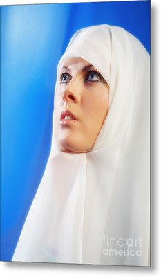 Nun Praying Metal Print by Aleksey Tugolukov