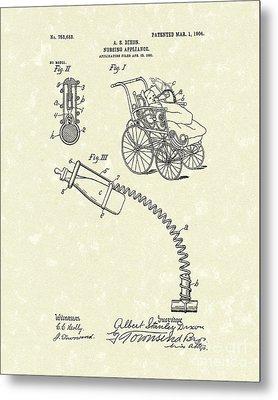 Nursing Aid 1904 Patent Art Metal Print
