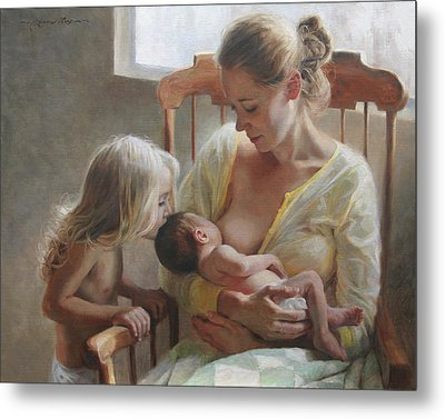 Nurturer Metal Print by Anna Rose Bain