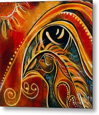 Metal Print featuring the painting Nurturer Spirit Eye by Deborha Kerr