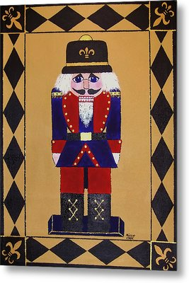Nutcracker Floor Cloth Sgt. Blue Metal Print by Cindy Micklos
