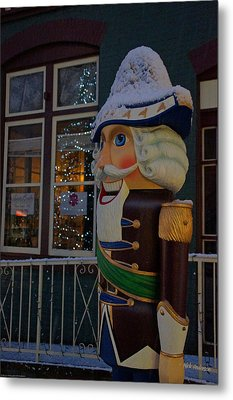 Nutcracker Statue In Downtown Grants Pass Metal Print by Mick Anderson