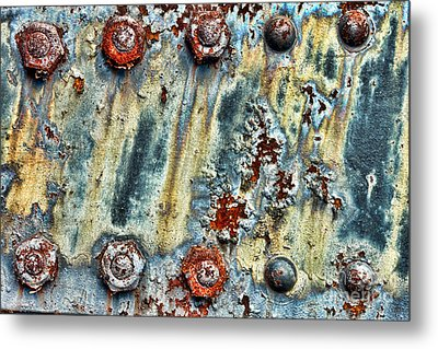 Nuts And Rivets  Metal Print by Olivier Le Queinec